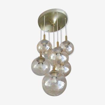 Hanging lamp glass Glashütte Limburg