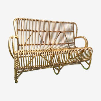Bench into rattan 2 seater