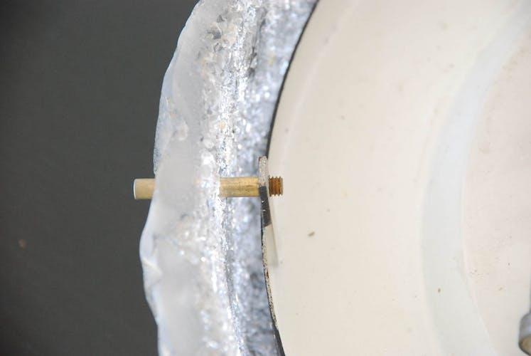 Plafonnier verre épais métal design Kaiser Leuchten 50/60