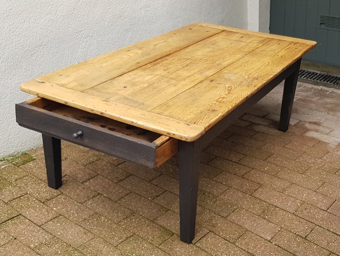 Rustic farm table with a drawer  30