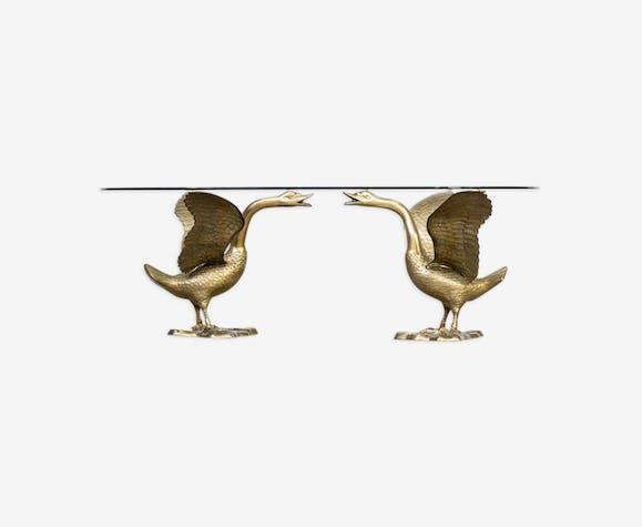 Table basse  «Goose» avec plateau de table en verre 1970