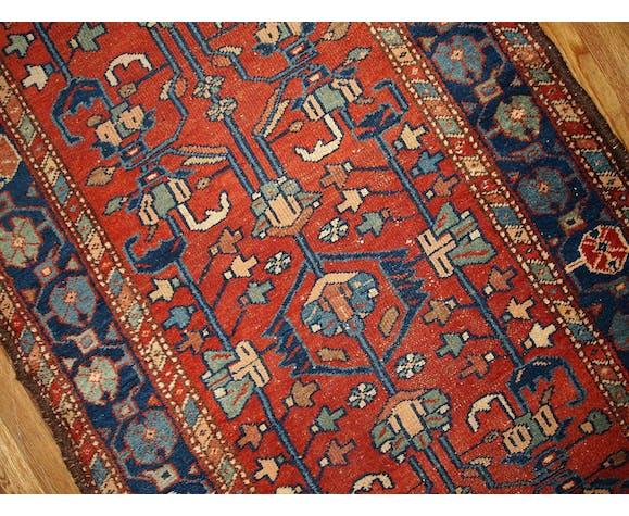 Old carpet runner Persian lilihan done hand 100x310cm 1920 s