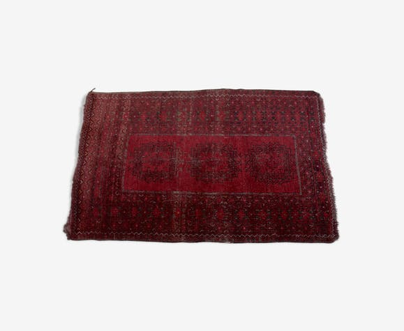 Tapis vintage en laine avec motif afghan bokhara 158x99cm