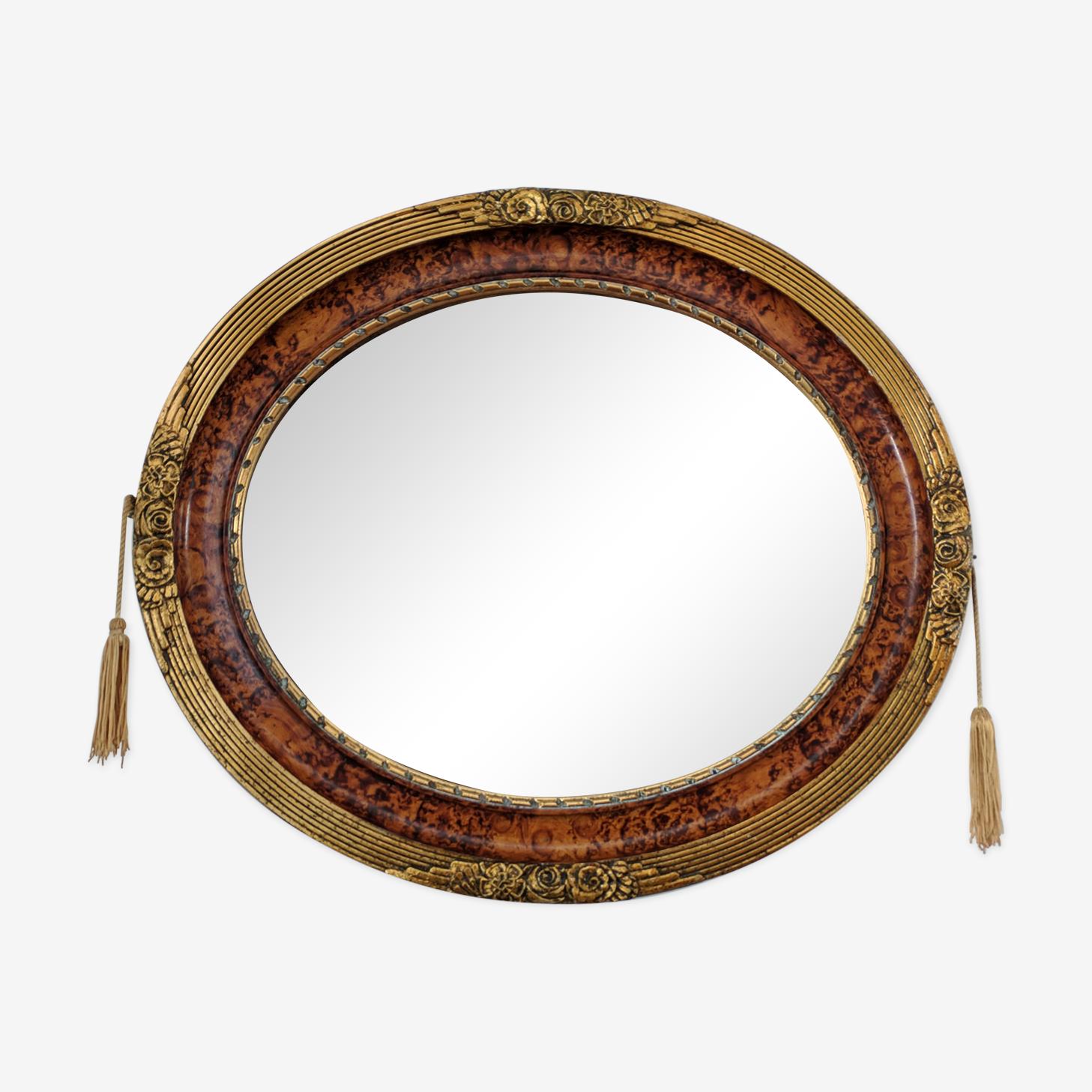 Ancien miroir Art Deco 45X52cm