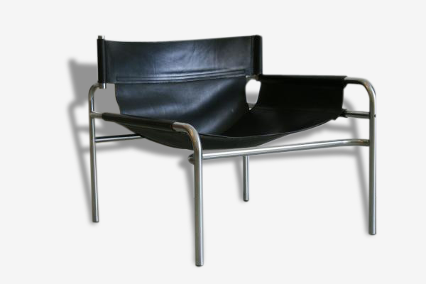 Chaise Relaxante Asymétrique par Walter Antonis pour 't Spectrum, Pays-Bas, 1965