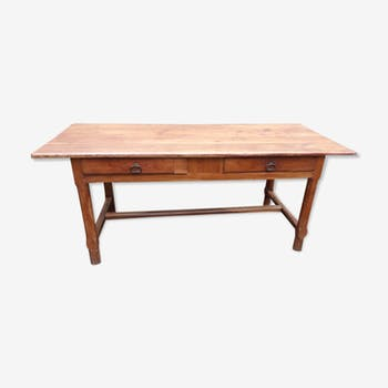 Table de salle manger vintage d 39 occasion for Table ancienne de ferme