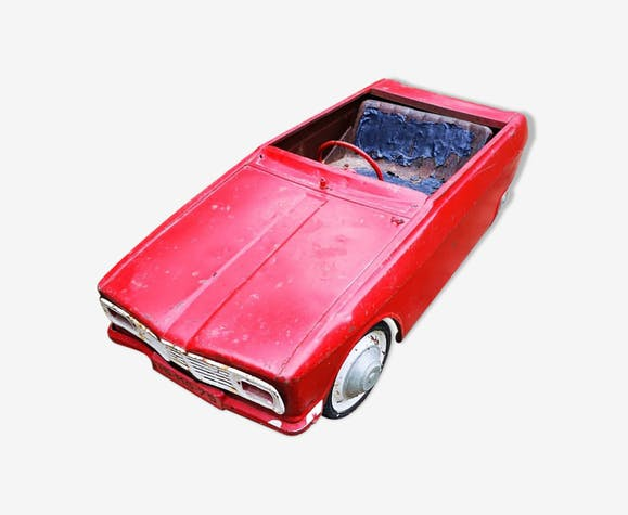 À En Vintage Fer Voiture Pédale Zwe5yfl Tôle Rouge 7Yb6yfvg