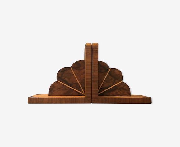 Paire de serre livre style art deco vintage bois mat riau bois couleur art d co 3k3yuir - Livre serre jardin ...