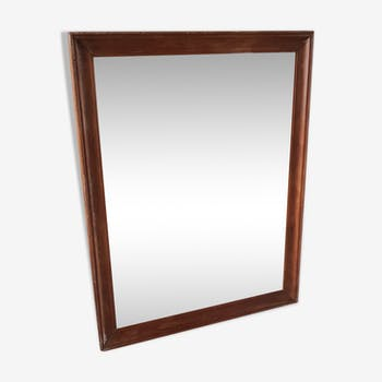 Old mirror with teak frame - 116x91cm
