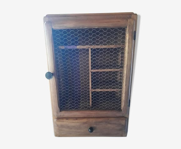 Oak country wall cabinet