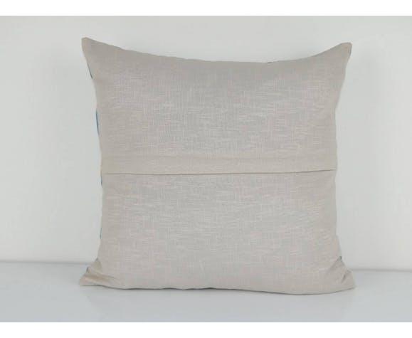 Oreiller ikat en velours de soie turc 44 x 45 cm