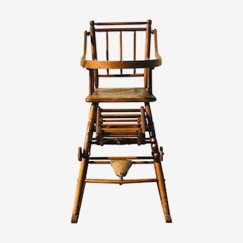 Chaise haute de bébé années 20
