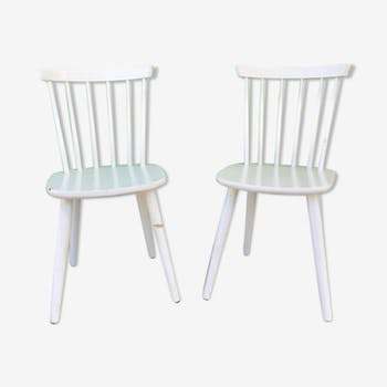 Pair of chairs English bars vintage