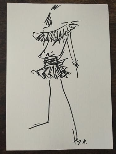 Christian Dior: fashion illustration and photography press vintage late 80s