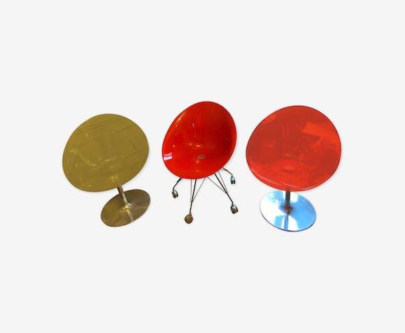 Lot de trois chaises Eros de Philippe Starck