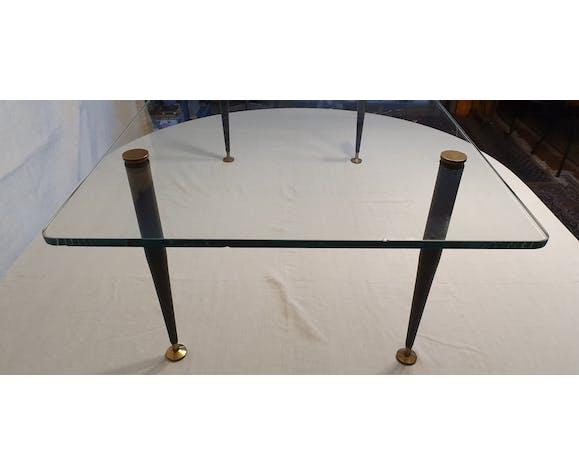 Table basse en verre 1950