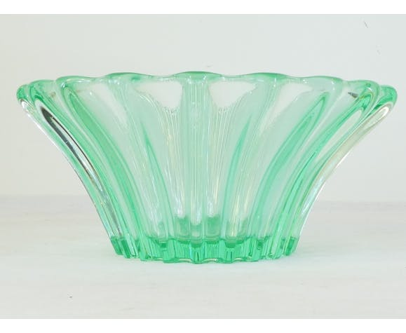 Coupe saladier P.d'Asven art deco reflets vert