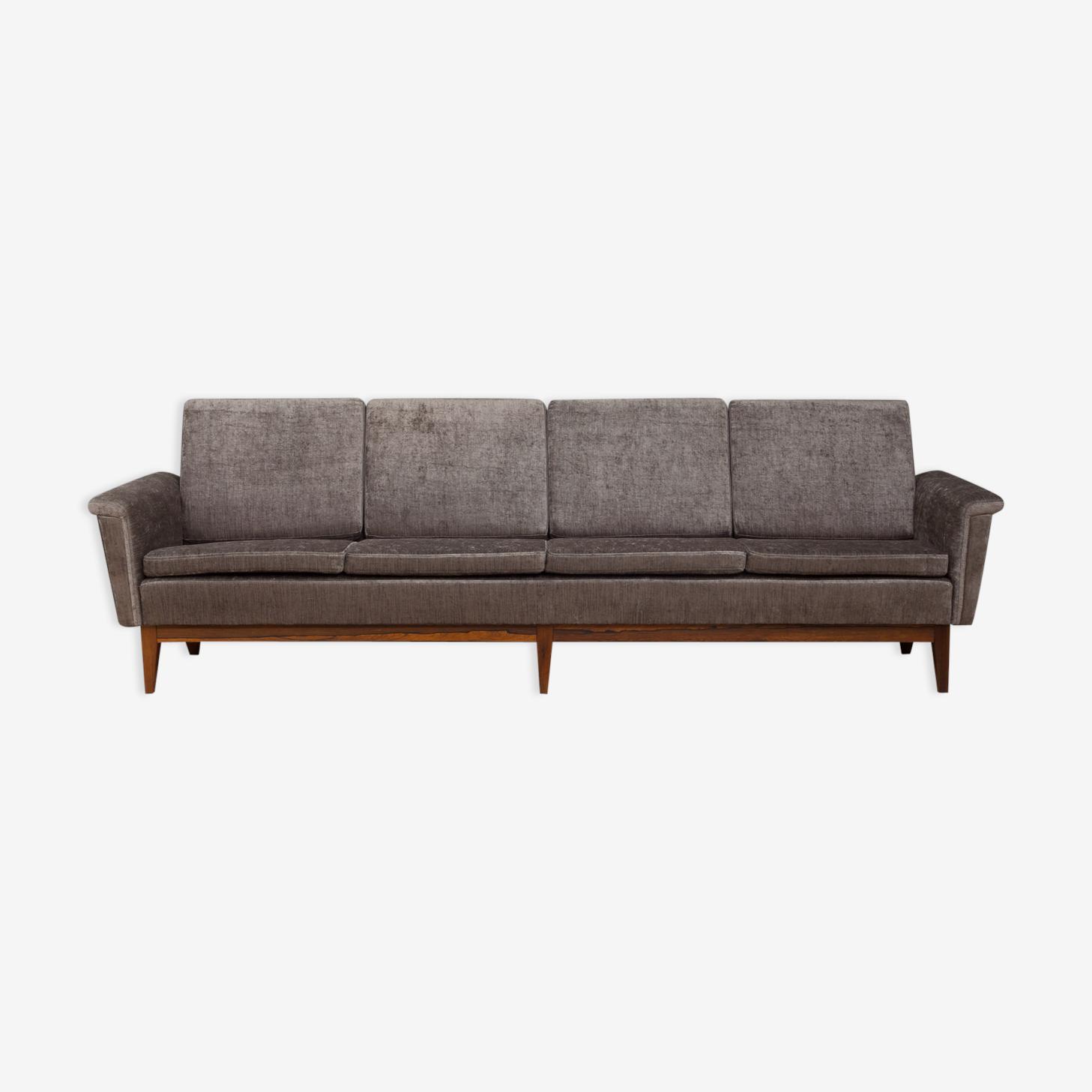 Mid-century four seater sofa in italian velvet