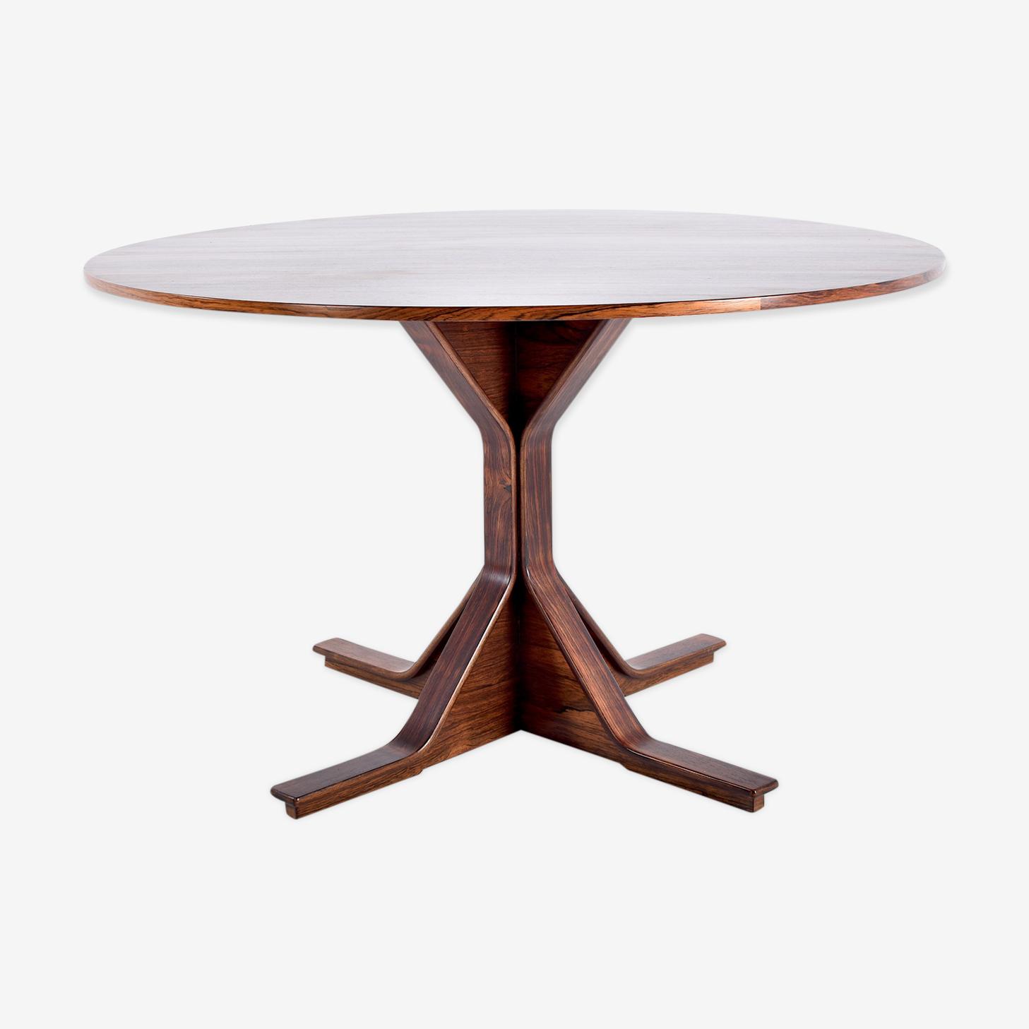 Table de salle à manger en palissandre de Rio par Gianfranco Frattini pour Bernini modèle 522,