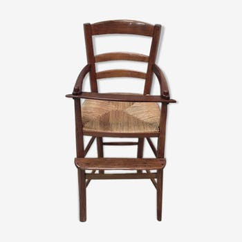 Chaise haute d'enfant en merisier XIXe