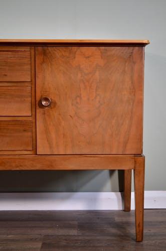 Midcentury Gordon Russell for Heal's Walnut Sideboard. Vintage / Modern / Retro / Danish / Scandinavian style.