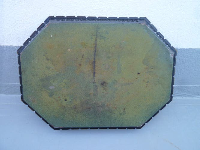Painted sheet metal tray