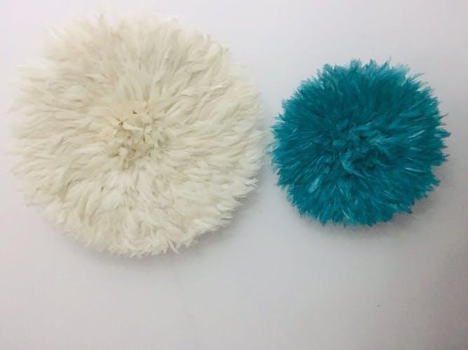 Ensemble de 2 Juju hats blanc et turquoise