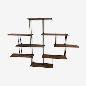 escabeau petite chelle de cueillette ancienne bois mat riau bois couleur industriel. Black Bedroom Furniture Sets. Home Design Ideas