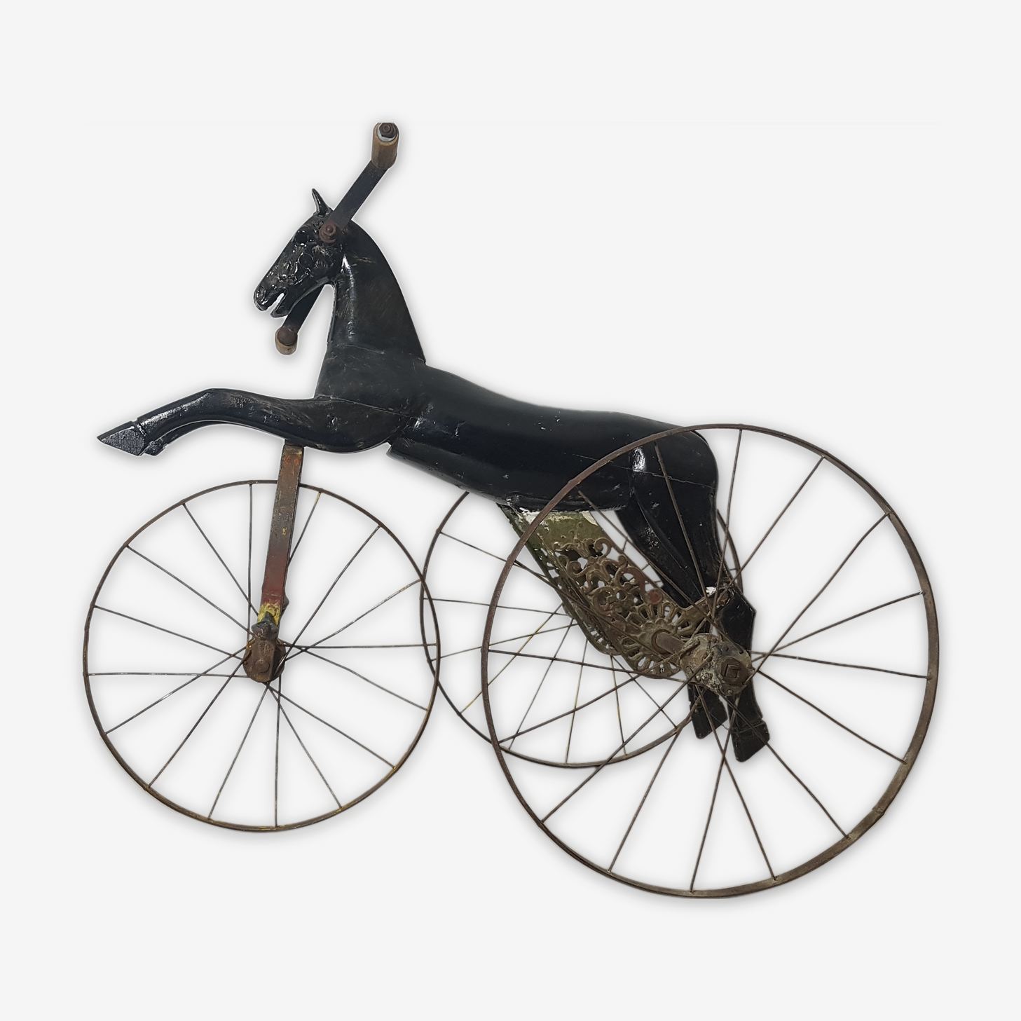 Tricycle horse wood and cast iron Napoleon III. 1890.