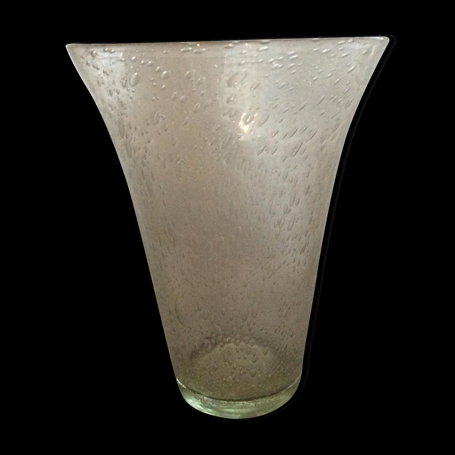 Simple vase verre souffl bulle de biot with grand vase en verre transparent for Decoration de grand vase transparent