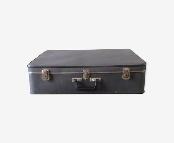 Valise en carton vintage - papier - gris - vintage - LLuSaTD