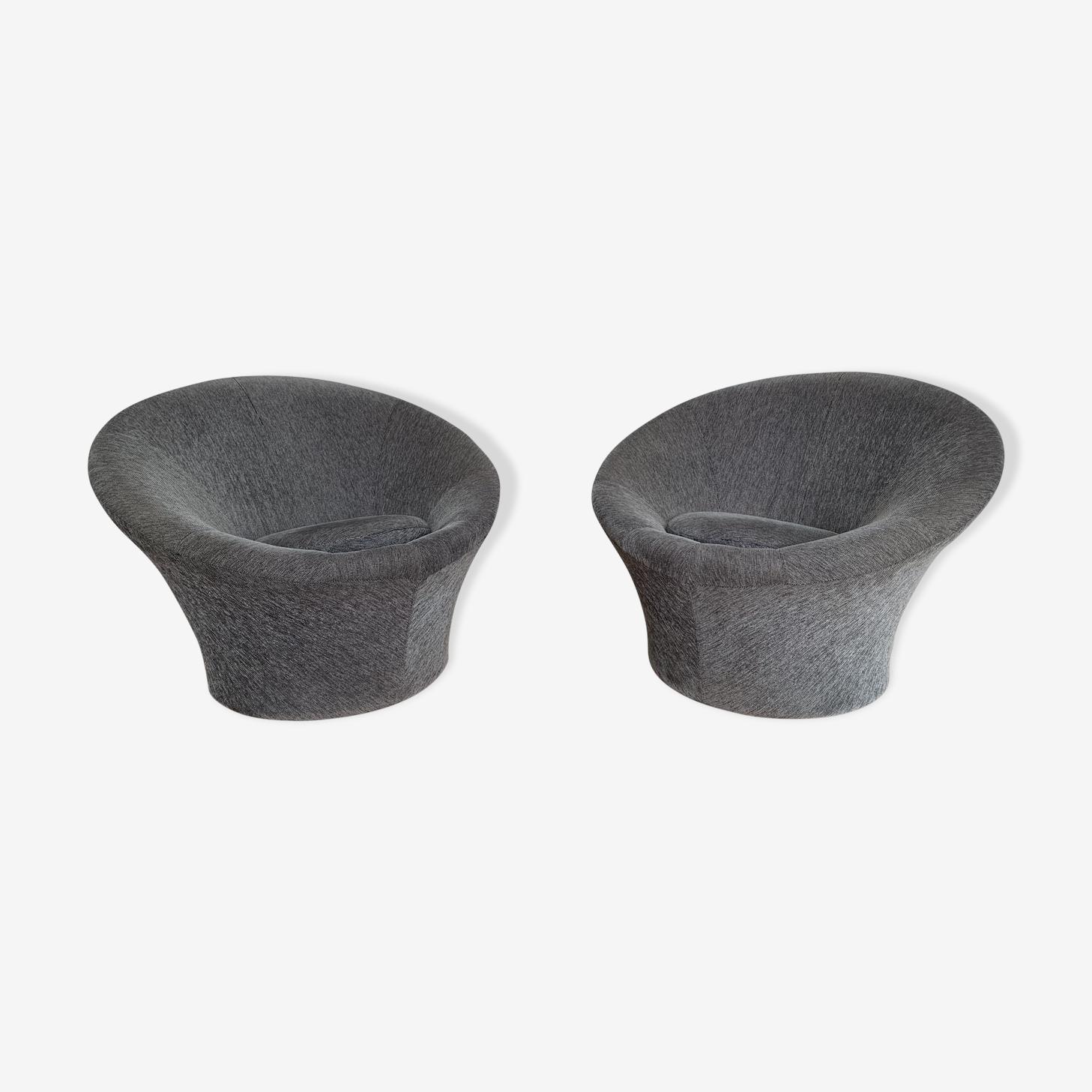 Pair of mushroom armchairs by Pierre Paulin for Artifort