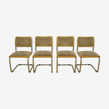 Series of 4 cesca B32 chairs by Marcel Breuer
