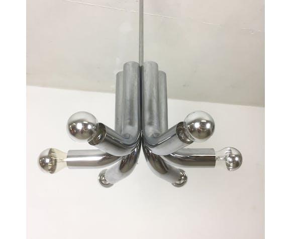 Modernist suspension chrome Sputnik of Cosack Lights