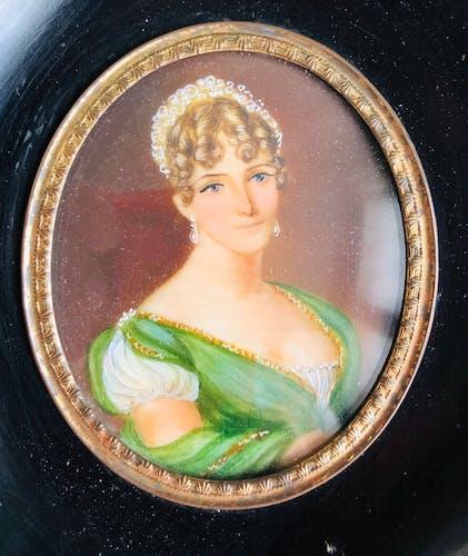 Miniature sur ivoire Napoléon III