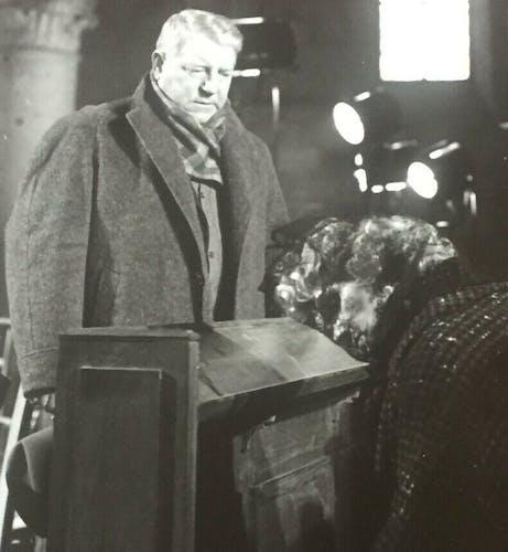 """Photo cinéma """"Maigret et l'Affaire Saint-Fiacre"""" Jean Gabin, Simenon"""