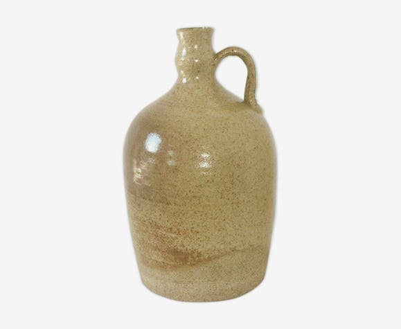 Vintage glazed stoneware jug bottle
