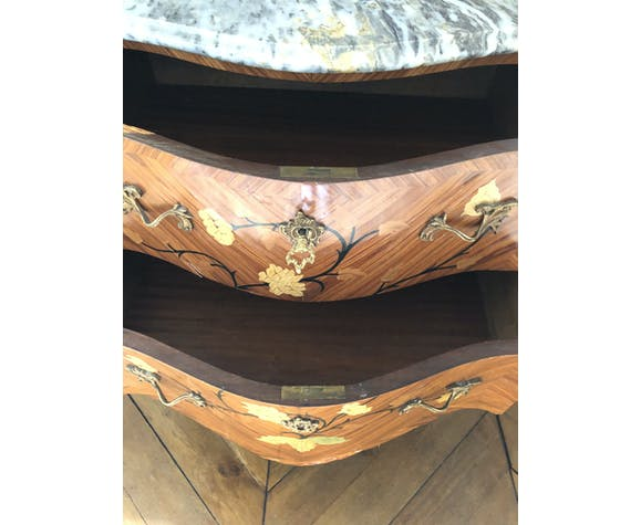 Louis XV Style chest of drawers marble tray