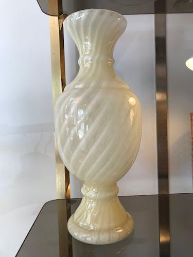 Murano glass vase on pedestal