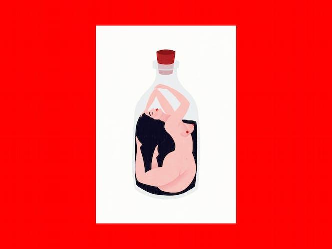 """Illustration """" La femme """" A3"""