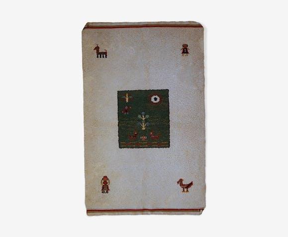 Vintage Persian Gabbeh handmade rug 140cm x 215cm 1960, 1C344