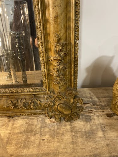 Old mirror in the style of Louis XV