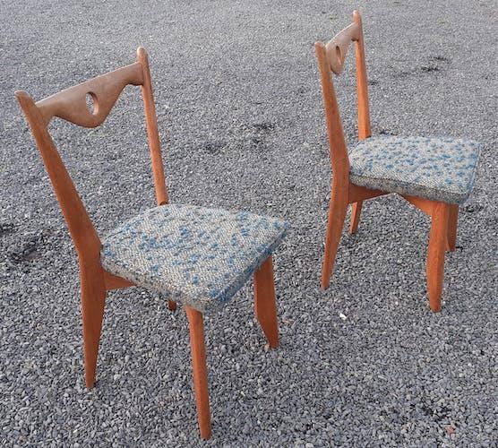 Paire de chaises de Guillerme & Chambron
