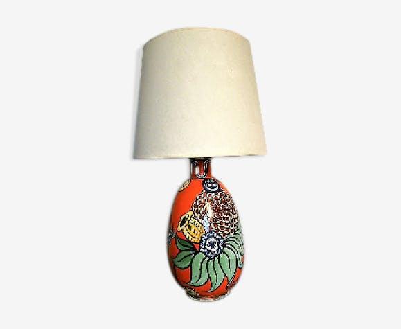 Lampe En Faïence Céramique1940 Art Deco Porcelaineamp; LR354Aj
