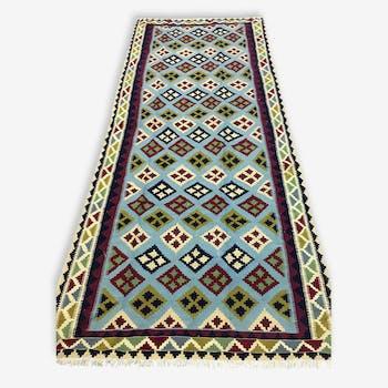 Beautiful carpet woven Persian: Kilim Gashqai 285 x 129 cm - Iran - around 1970