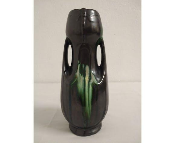 Vase vintage en céramique de style Art nouveau