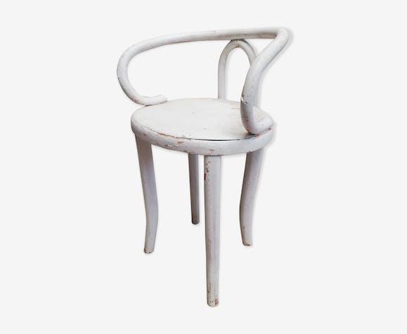 Fauteuil chaise enfant bois courbé bar bistrot vintage 50 60