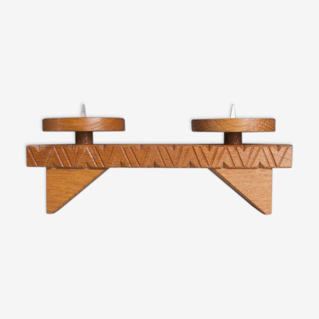 Chandelier en bois style scandinave