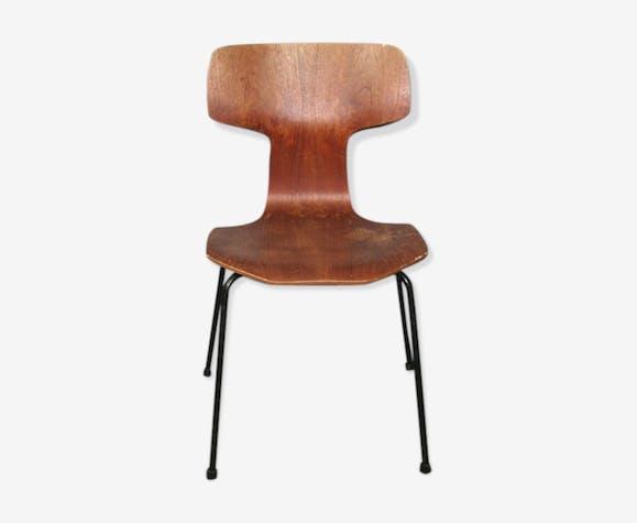 Chaise marteau signée Arne Jacobsen édition  Fritz Hansen 1969