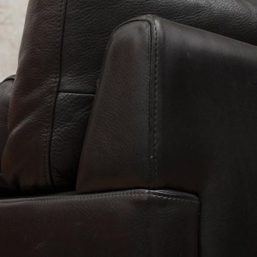 Canapé en cuir scandinave scandinave du milieu du siècle de 2,5 places